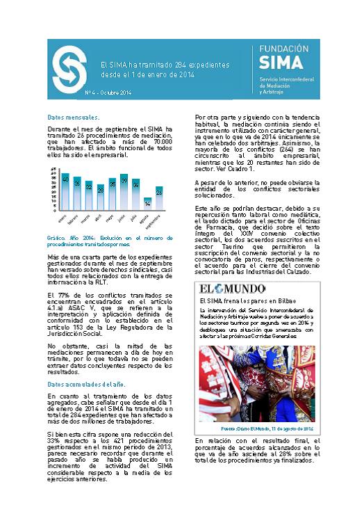Carátula informe mensual 4 septiembre 2014