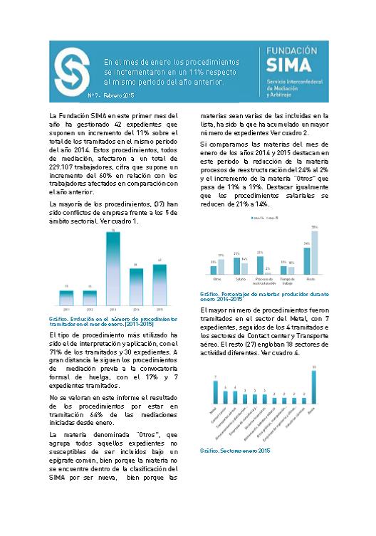 Carátula informe mensual 7 enero 2015