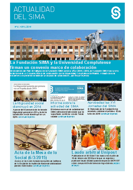 Newsletter 6 Abril